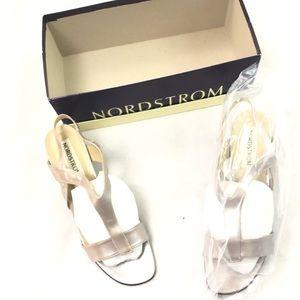 Nordstrom's Women's silver heel sandals 9